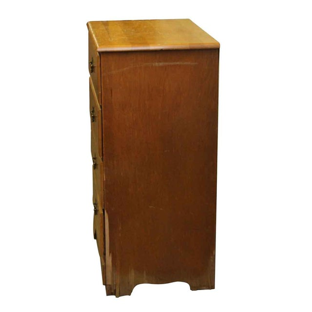 1940s Four-Drawer Maple Wood Dresser For Sale - Image 6 of 9