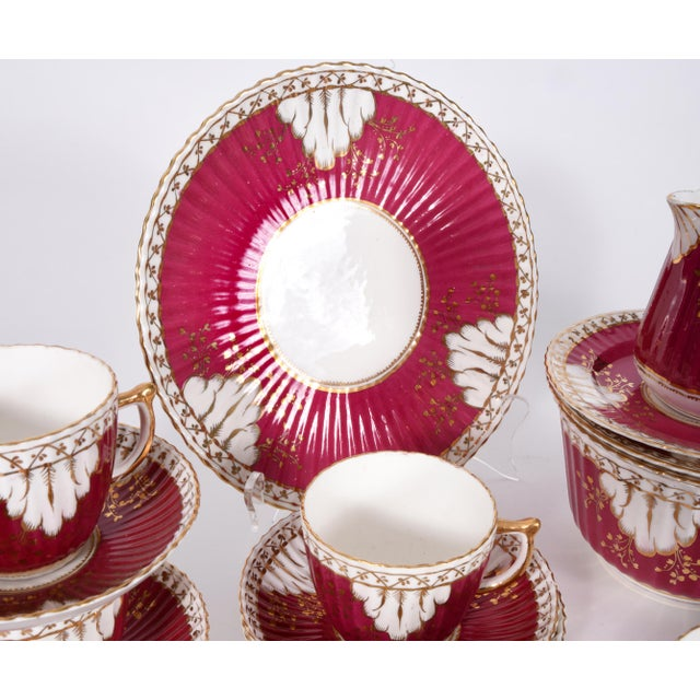 Vintage English Porcelain Luncheon Service - 27 Pc. Set For Sale - Image 9 of 13