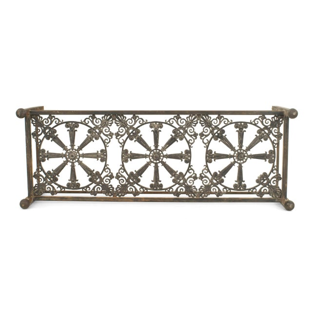 Traditional Outdoor Continental Style Iron Base Coffee Table For Sale - Image 3 of 3