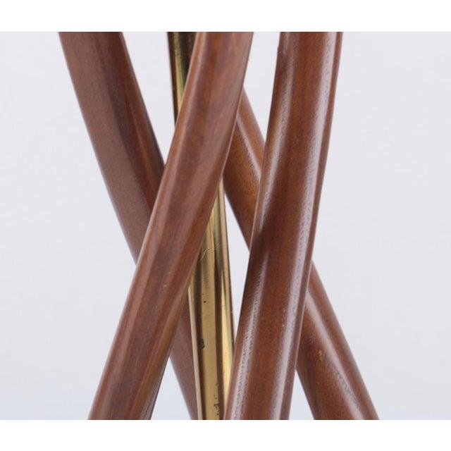 Mid-Century Modern Mid-Century Modern Teak Wood Table Lamp For Sale - Image 3 of 7