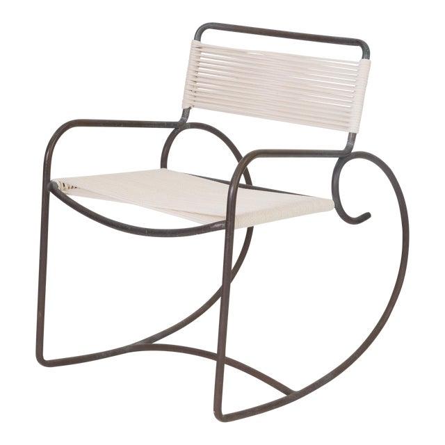 Single Walter Lamb Rocking Chair for Brown Jordan For Sale