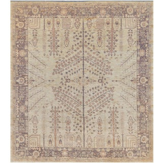 """Mansour High Quality Handwoven Agra Rug - 8'5"""" X 9'5"""" For Sale"""