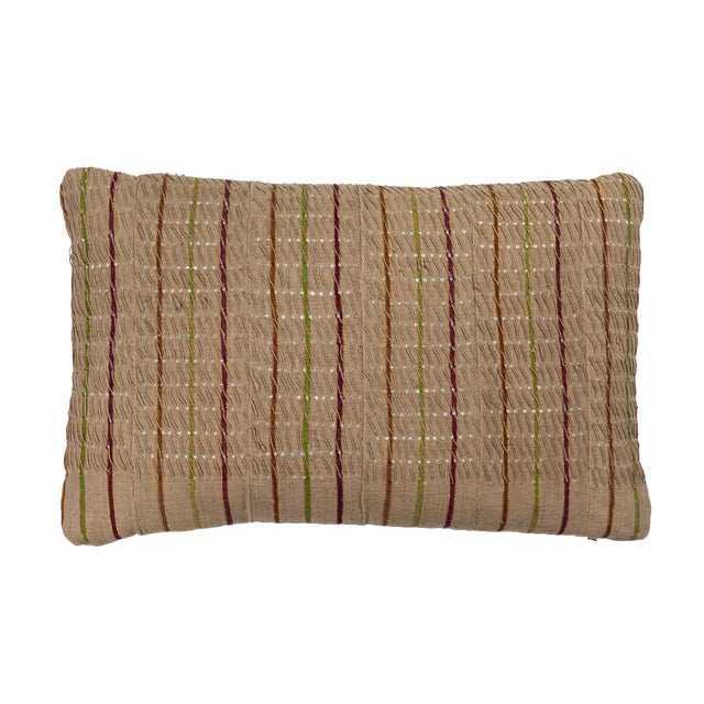 Red Vintage African Ashante Textile Pillow For Sale - Image 8 of 8