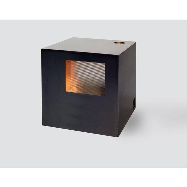 Brutalist Cube Side Table by Harry Clark For Sale - Image 3 of 7