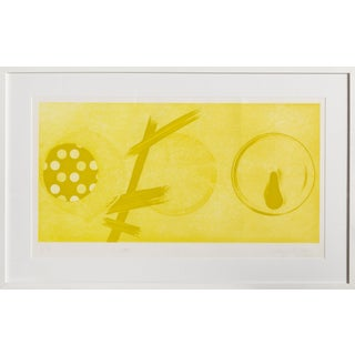 """James Rosenquist, """"Yellow Lamps"""", Abstract Expressionist Print For Sale"""