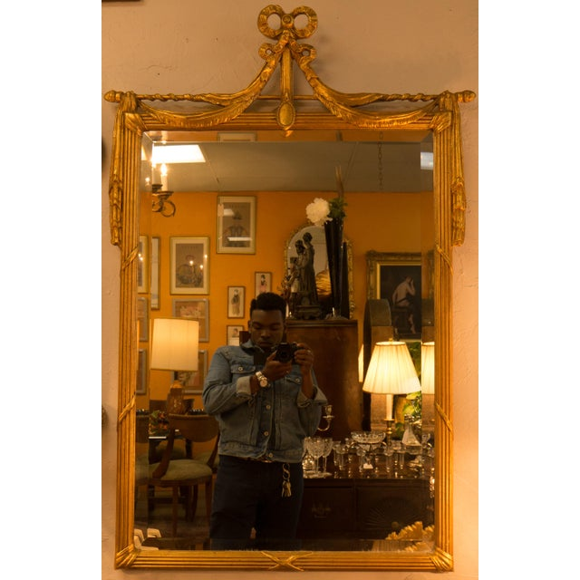 French 19th Century 22kt Gold Gilt Mirror - Image 2 of 5
