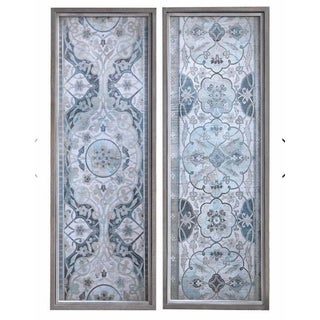 Vintage Persian Panels Framed Prints by Uttermost - A Pair For Sale