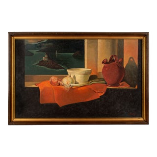 Mid-Century French Still Life Painting by Hubert Gaillard For Sale