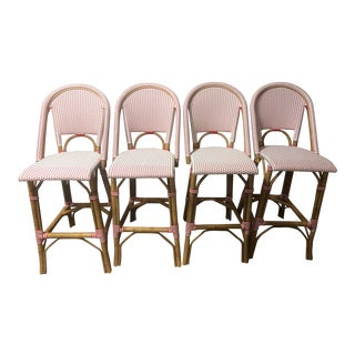 Serena & Lily Riviera Barstools - Set of 4 For Sale