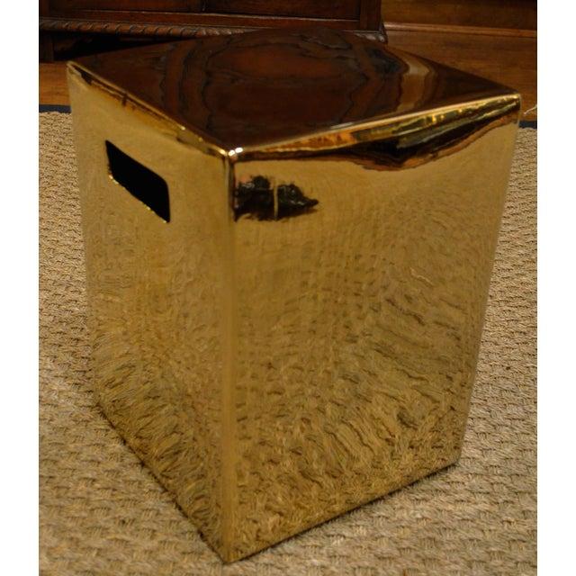 Gold Cube Ceramic Stool - Image 3 of 7