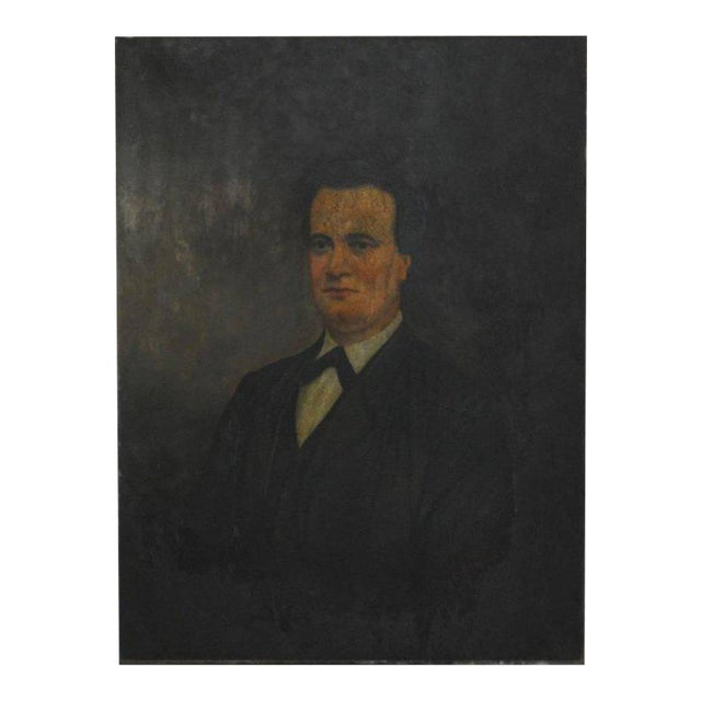 19th Century English Portrait of a Gentleman Oil on Canvas For Sale