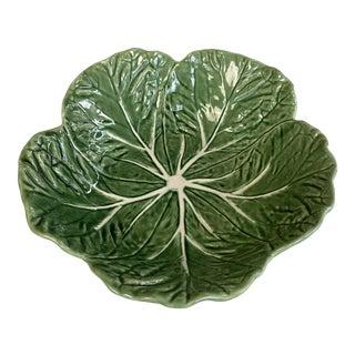 Vintage Bordallo Pinheiro Green Cabbage Serving Bowl For Sale