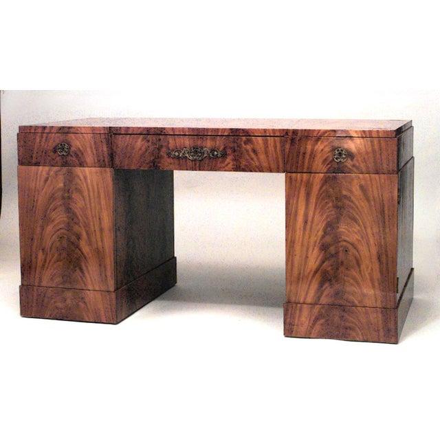 German Biedermeier Mahogany Kneehole Desk For Sale In New York - Image 6 of 6