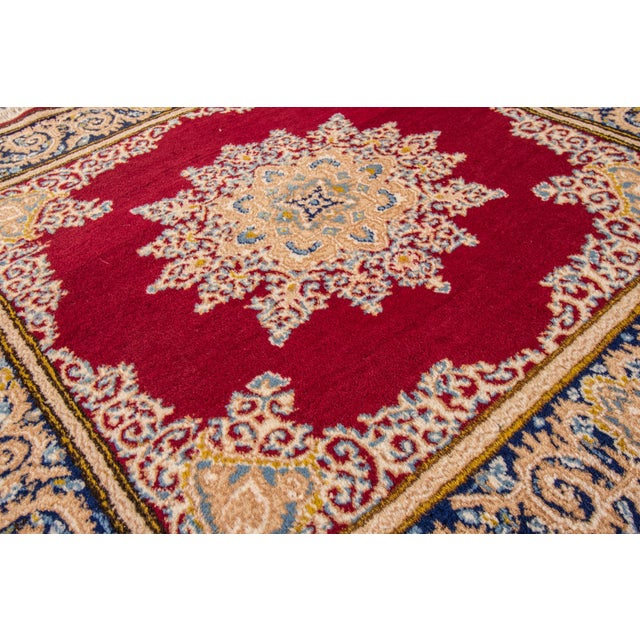 "Traditional Vintage Persian Kerman Rug, 3'8"" x 3'9"" For Sale - Image 3 of 5"