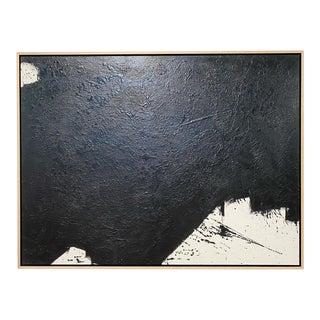 """Exclusive John O'Hara """"Tar, 14"""" Encaustic Painting"""
