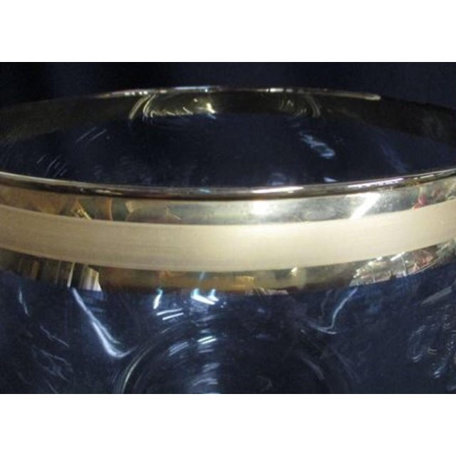 Abstract Dorothy Thorpe Style Gold Glass Punch Bowl Set For Sale - Image 3 of 5