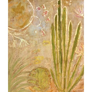 """""""Dusty Desert"""" Contemporary Landscape Mixed-Media Painting For Sale"""