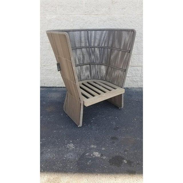 Restoration Hardware Havana Fan Chair For Sale - Image 9 of 9