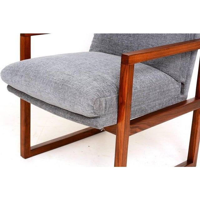Pair of Mid-Century Modern Walnut Armchairs For Sale - Image 9 of 9