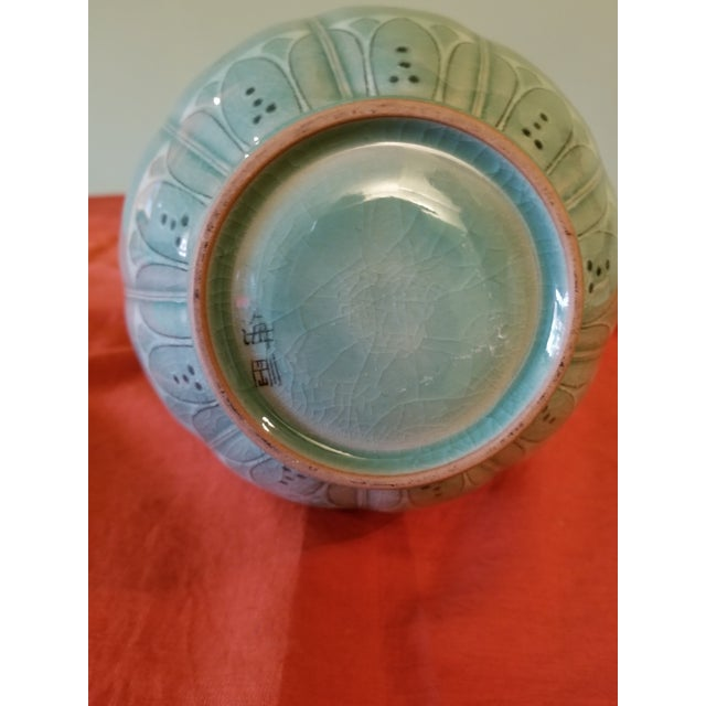 Korean Goryeo Style Celadon Green Glaze Ware by Yu Geun-Hyeong (柳 海剛 1894-1993) For Sale In Los Angeles - Image 6 of 8