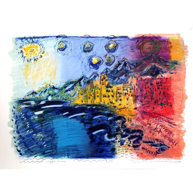 Wayne Ensrud, Camogli Italy, Lithograph For Sale