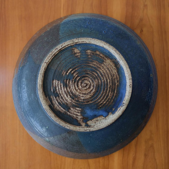 Ceramic Hal Fromhold California Studio Pottery Large Bowl, 1950s For Sale - Image 7 of 8