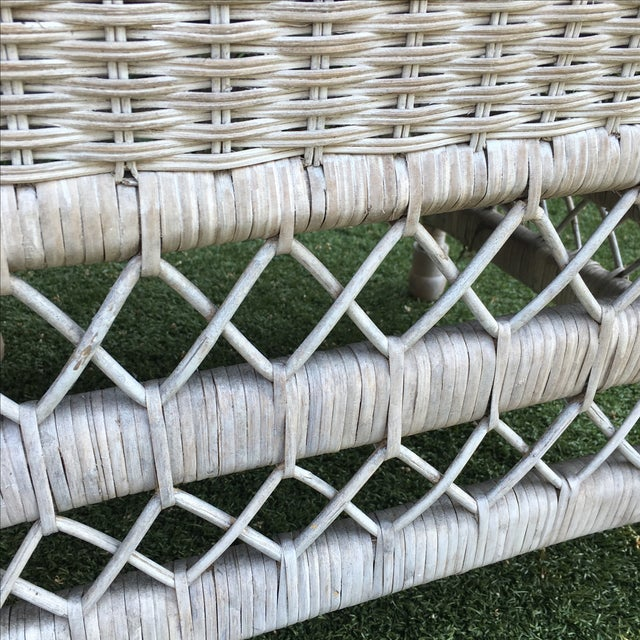 Shabby Chic White Wicker Chairs - a Pair - Image 6 of 7