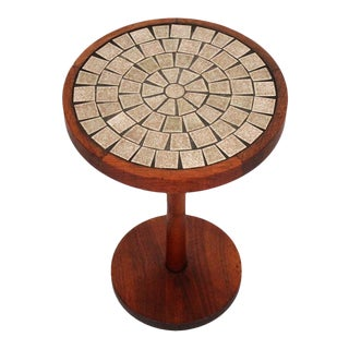 Martz for Marshall Studios Ceramic and Walnut Table For Sale