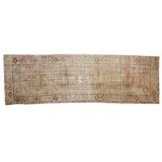"""Vintage Distressed Oushak Rug Runner - 3' X 9'1"""" For Sale"""