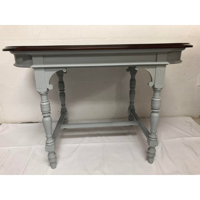 Italian 19th Century Italian Polished Rosewood Veneer on Top With Painted Wood Base For Sale - Image 3 of 9