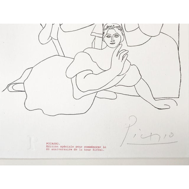 """1960s Picasso Pencil Signed Edition Lithograph """"Seven Ballerinas"""" 1969 For Sale - Image 5 of 6"""