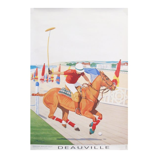1993 French Horse Poster, Polo Deauville For Sale