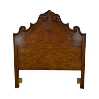 Michael Taylor Antiqued Pine Italian Queen Size Headboard For Sale