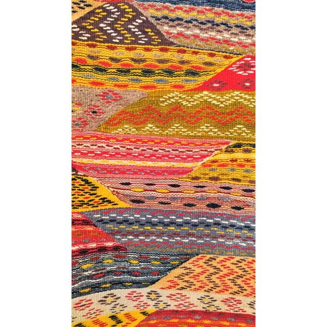 """Moroccan Zanafi Tribe Berber Wool Kilim Area Rug 76.5"""" x 42"""" - Image 5 of 7"""