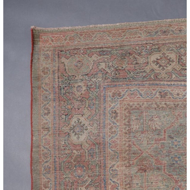 Olive Ground Mahal Carpet For Sale - Image 4 of 5