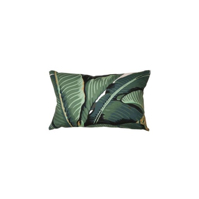 """Hinson Palm Pattern Pillow from the Hinson Collection in Green Pattern Repeat Length: 40"""" Pattern Repeat Width: 26.25"""""""