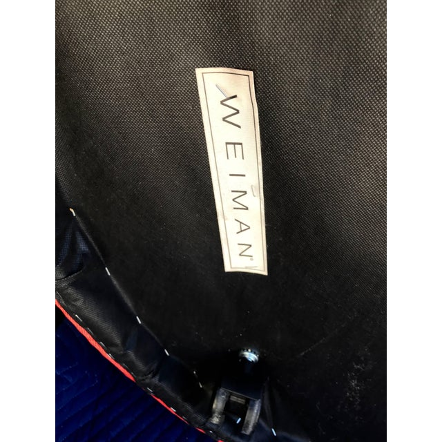 Mid-Century Modern Vladimir Kagan for Weiman Chairs With Large Ottomans With Labels- A Pair For Sale - Image 3 of 12