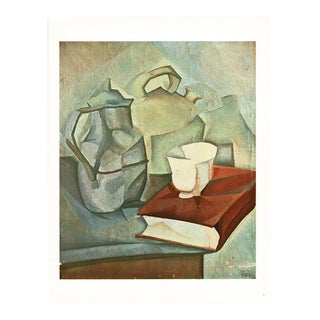 """1940s Juan Gris """"The Book"""" Lithograph From Geneva For Sale"""