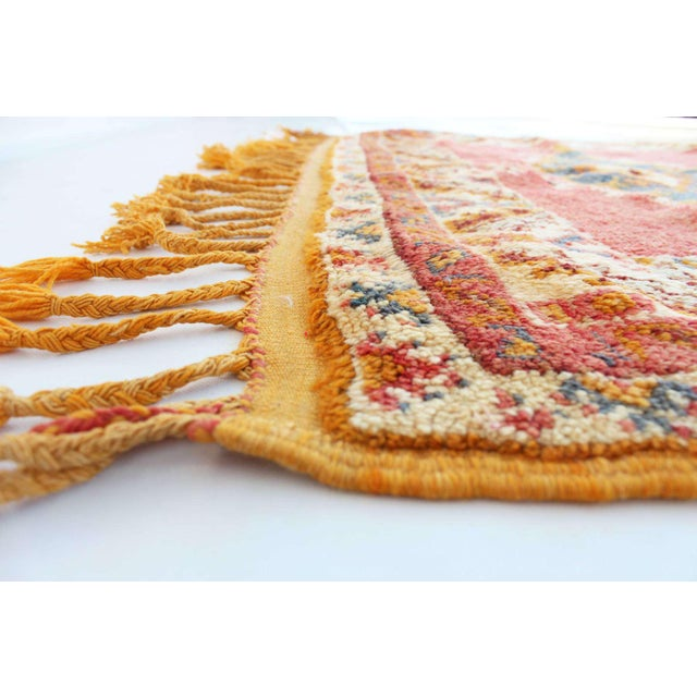"""Type of rug : taznakht dimensions : 4'1"""" x 6'6"""" feet / 125 x 200 cm material : 100% wool age : vintage / circa 1970s..."""