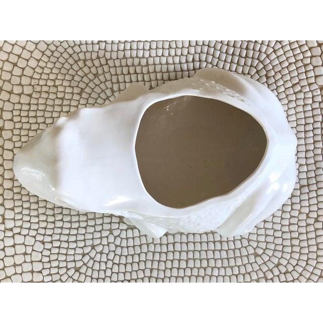White Large Vintage Ceramic White Frog Planter For Sale - Image 8 of 10