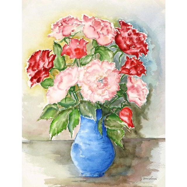 Vintage Watercolor - Blooms of Ardor - Image 1 of 3