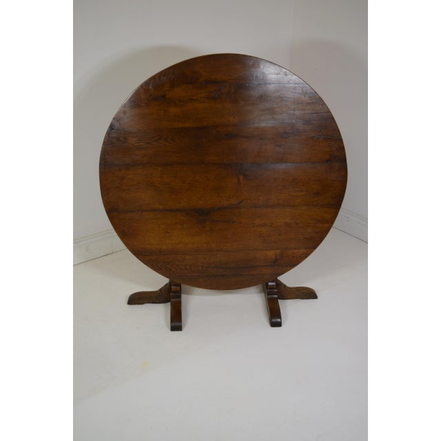 19th-Century French Oak Wine Tasting Table For Sale - Image 6 of 8