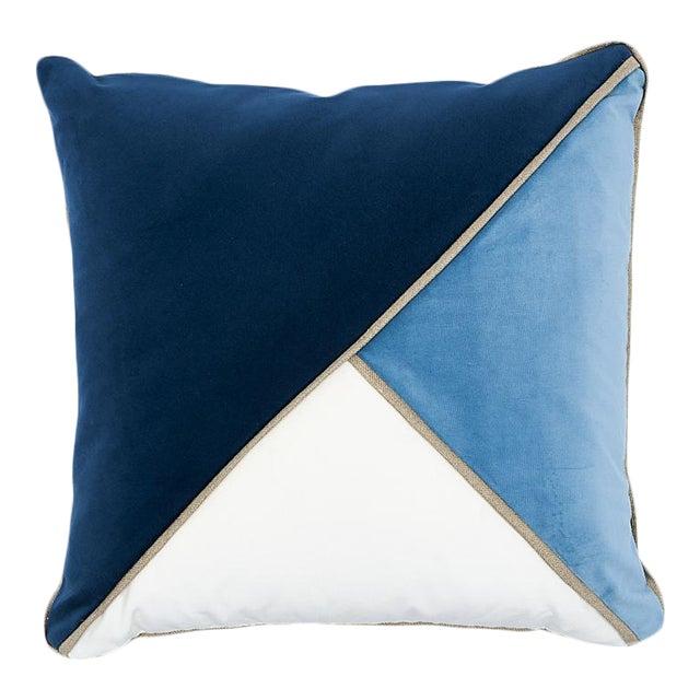 Schumacher Gainsborough Velvet Pillow For Sale