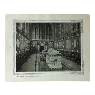 "1906 ""Albert Memorial Chapel - Windor - Looking West"" Famous View of London Print For Sale"