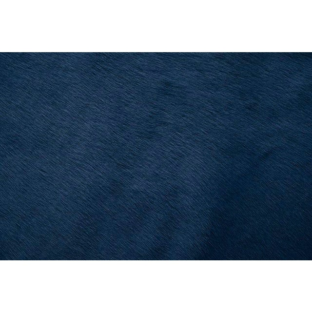 Navy Blue Cow Hide: All of our Hair Cow Hides are full hides and measure approximately 7'w x 8'l. They are of the highest...