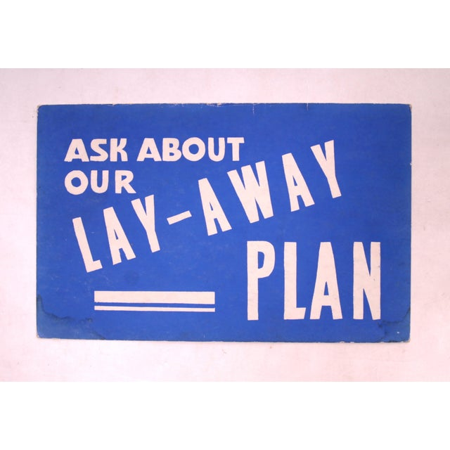 Lay-Away Plan Vintage Sign - Image 2 of 3