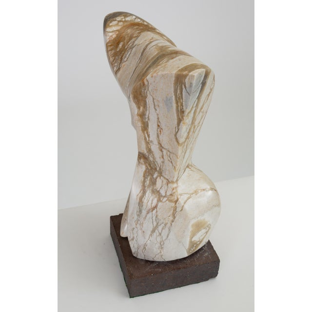 Mid-Century Modern Abstract Torso Sculpture on Stone Mount For Sale - Image 3 of 12