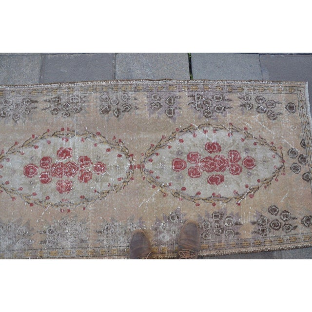 Turkish Overdyed Floor Rug- 2′11″ × 5′9″ For Sale - Image 4 of 6