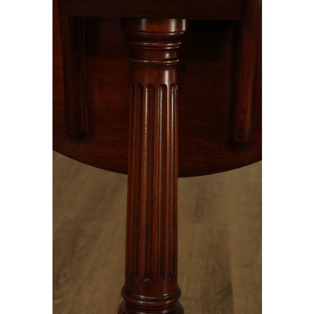 Biggs Thomas Jefferson Round Mahogany Tilt Top Candlestand For Sale - Image 9 of 13