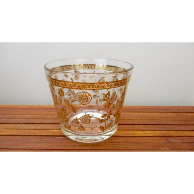 Glass Vintage Culver Gold Ice Bucket Mid Century Modern Hollywood Regency For Sale - Image 7 of 11